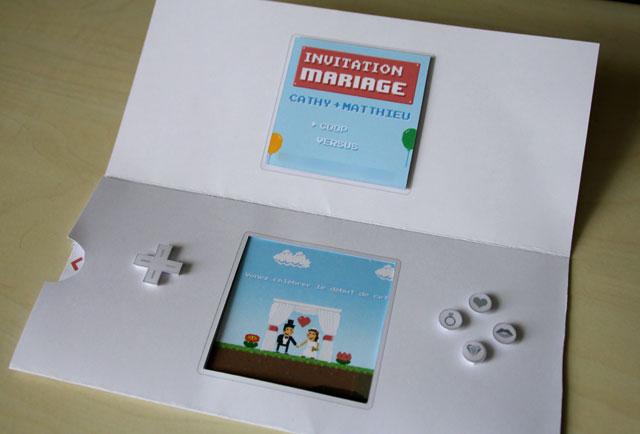 photo faire part mariage jeux video