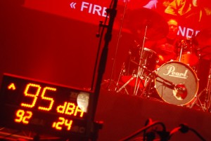 Sonomètre en salle de concert