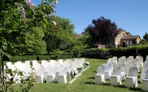 Jardin pour une cérémonie laïque à Touny les roses