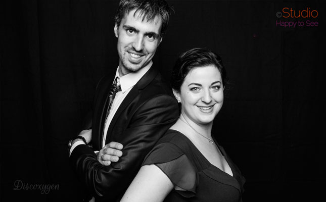 Audrey (chanteuse) et Julien (Dj) Photo : Studio Happy to See Toulouse