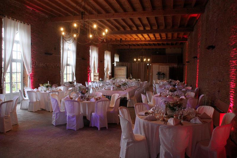 Repas de mariage Orangerie de Rochemontès