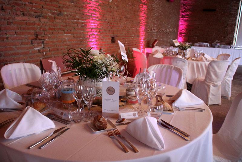 décoration mariage Orangerie Rochemontès