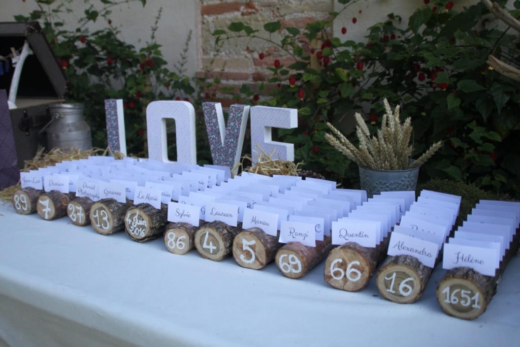 décoration mariage rond de table